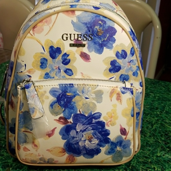Guess Handbags - PERFECT FOR SPRINGTIME: Floral Guess Backpack